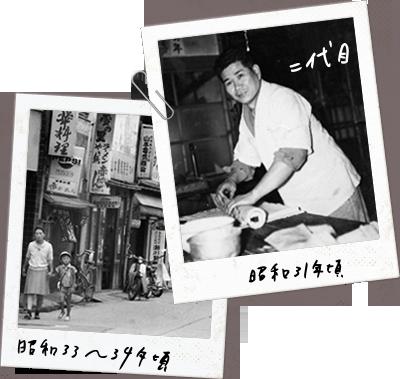 瀬川菓子舗の昭和31年から34年ごろの写真